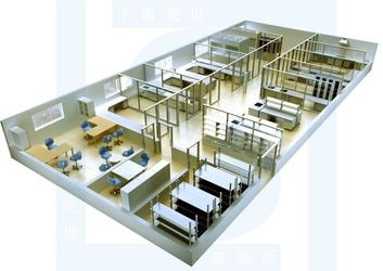LAB FURNITURE FITTING 3D DRAWING 2