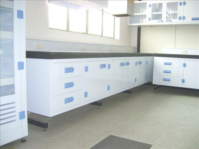 Polypropylene lab bench and cabinet,acid and alkali resistant pp lab workbench