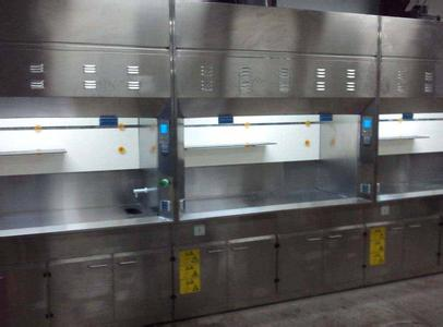 Stainless steel laboratory fume cabinet