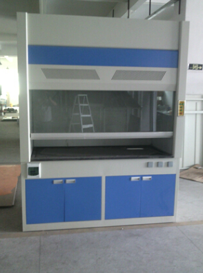 up table  fume hood with acid and akali resistance in chemical laboratory