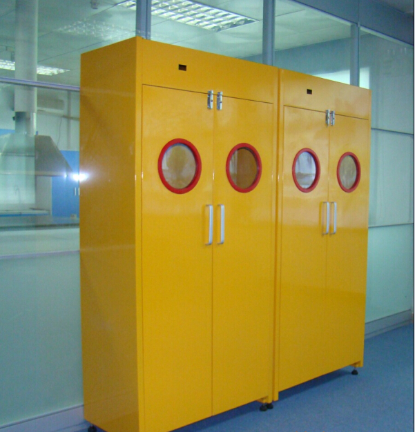 Aluminum alloy handleLaboratory  Gas Cylinder Cabinets  With Automatic Alarm Device  china manufacture