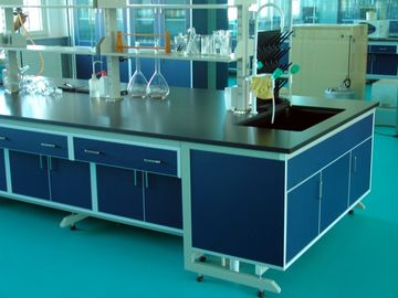 China Steel Wood Lab furniture For University Laboratory aluminum alloy Handle supplier