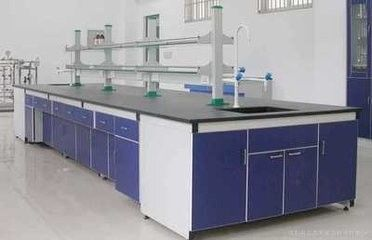 China Certificate Steel  wood Laboratory Island Bench Aluminum Alloy Column supplier