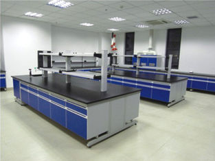 China Modern Colorful Steel Wood Lab Table Modular Laboratory Furniture supplier