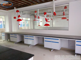 China Durable Customized  Modular Chemistry Lab Wall Bench With Full Steel  Structure supplier