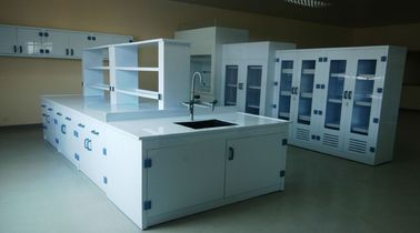 Top strength PP Board Laboratory  Side & Center  Benches Acid And Alkali Corrosion Resistance