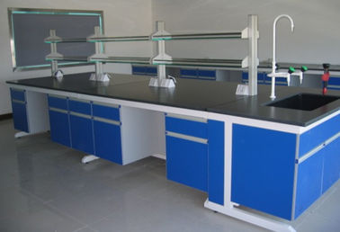 China Corrosion Resistant  Steel Wood  Lab Table Of  Modular Lab Furniture factory