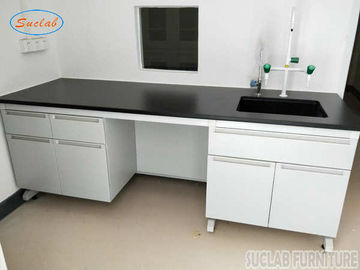 Corrosion Resistant Modular Steel Wood Lab Well Bench Furniture