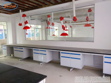 Durable Customized  Modular Chemistry Lab Wall Bench With Full Steel  Structure